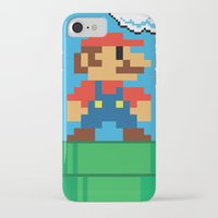 mario bros iPhone & iPod Cases featuring Mario Bros by WaXaVeJu