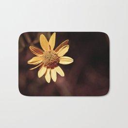 Yellow coneflower/sunflower Bath Mat