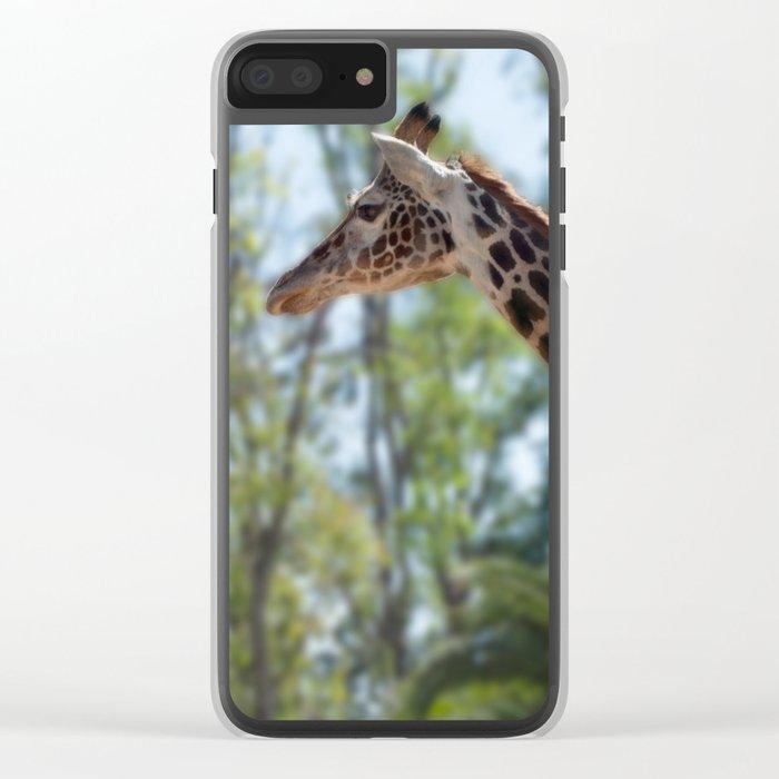 Giraffe Proud! Clear iPhone Case