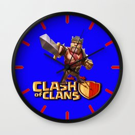 CLASH OF CLANS,BARBARIAN KING Wall Clock