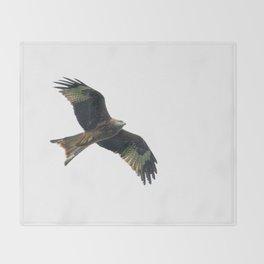 Red Kite in flight Throw Blanket