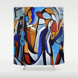 Jazzz for Ed Shower Curtain