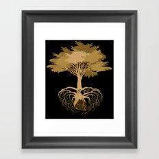 Heart Tree - Orange Framed Art Print
