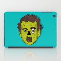 murray iPad Cases featuring ZomBill Murray by Chelsea Herrick