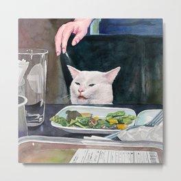 Woman yelling at cat Meme #16 Metal Print