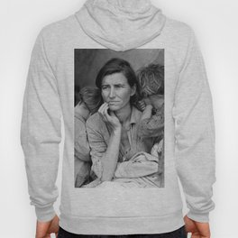 Migrant Mother by Dorothea Lange - The Great Depression Photo Hoody