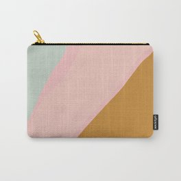 Abstract Painting in Muted Colors of Sage, Blush, and Gold Carry-All Pouch
