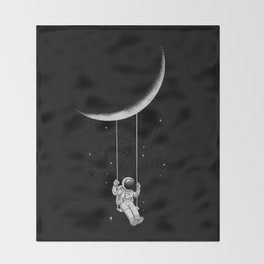Moon Swing Throw Blanket