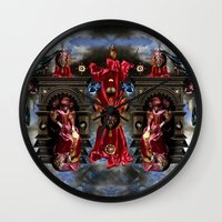 thrones Wall Clocks featuring THRONES by DIVIDUS