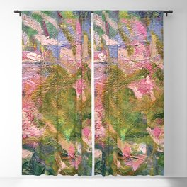 Claude Monet Water Lily Blackout Curtain
