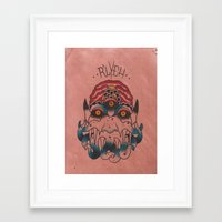 cthulhu Framed Art Prints featuring Cthulhu by Zack Traum