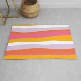 cali beach stripes Rug
