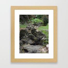 Stone river Framed Art Print