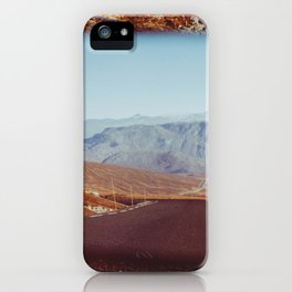 Road Tripping in Scandinavia - Road in Jotunheimen NP Through Rear Mirror iPhone Case