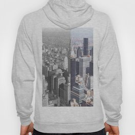 1932 New York City Next to Modern New York City-The Old and the New Hoody