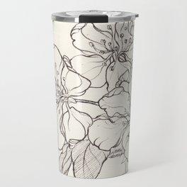 Flowering Tree Ink Illustration Travel Mug