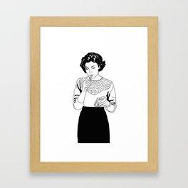 Audrey Horne inspired drawing Framed Art Print