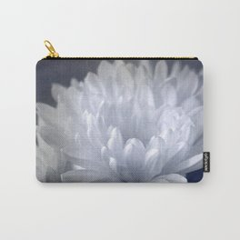 Textured White Flower Carry-All Pouch