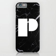 Black Marble - Alphabet P Slim Case iPhone 6s