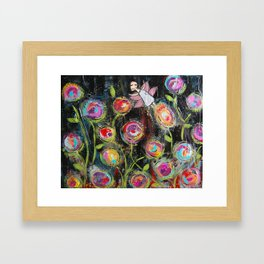 Midnight in the Fairy Garden Framed Art Print