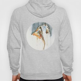 Equine Nude 1a - Horse Watercolor Painting Hoody