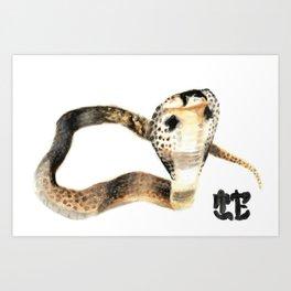 CHINESE ZODIAC (Snake)  Art Print
