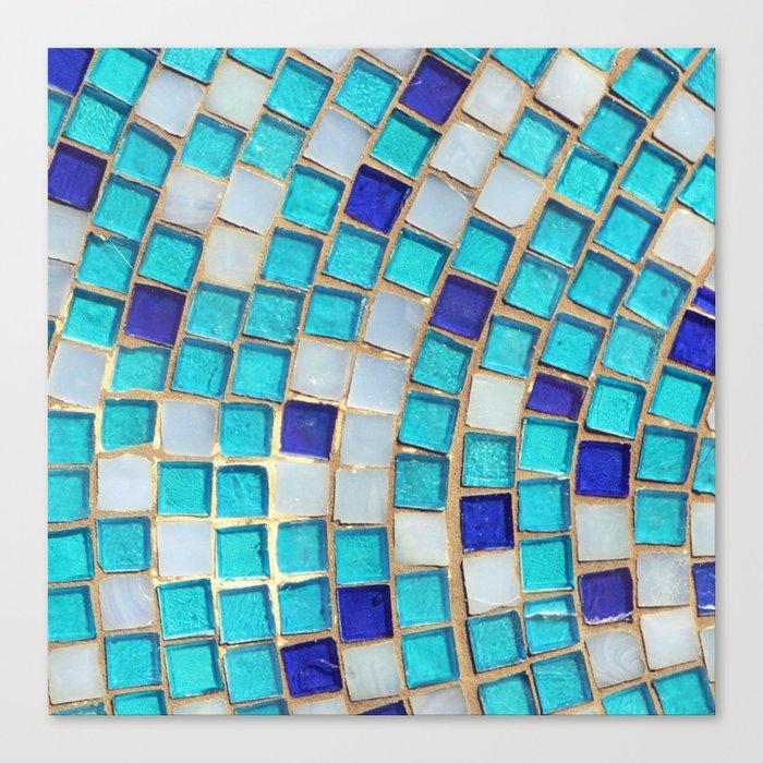 Blue Tiles - an abstract photograph. Canvas Print