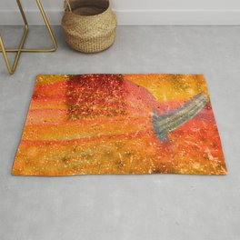 ABSTRACT COLORFUL SPARKLY PUMPKINS Rug
