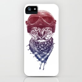 Don't Pussy Me (Red to Blue) iPhone Case