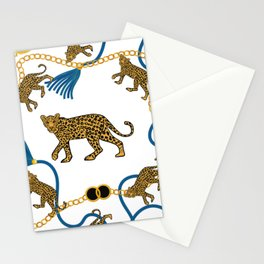 Leopard & chains Stationery Cards