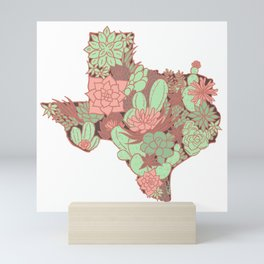 Texas Succulents Mini Art Print