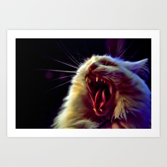 CAT !!! Art Print