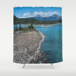 Athabasca River Photography Print Shower Curtain