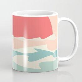 Minimalistic sun and sea waves Coffee Mug