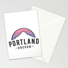 Portland Mt Hood Sunset Oregon PDX Classic Novelty Stationery Cards
