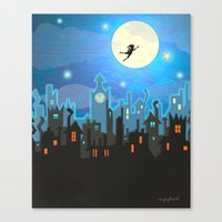 peter pan Canvas Prints featuring Peter Pan by MagzArt
