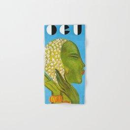 1931 Vintage Art Deco Flapper Young Woman Magazine Cover by Eduardo Garcia Benito Hand & Bath Towel