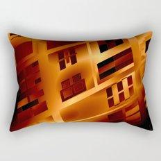 Abstract 379 Orange Geometric Windows Rectangular Pillow