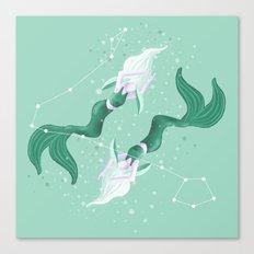 Zodiac Mermaid Canvas Print