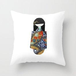 Emiko Blue Throw Pillow