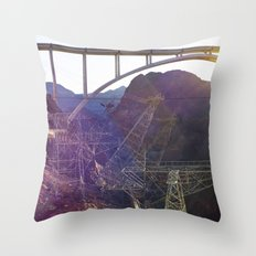 Hoover Dam Electicity Towers Throw Pillow