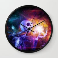 jack skellington Wall Clocks featuring Jack Skellington. by Emiliano Morciano (Ateyo)