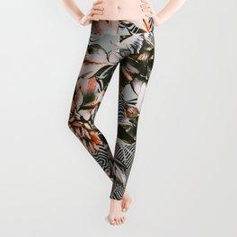 Print mix floral Leggings