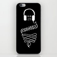 three of the possessed iPhone & iPod Skins featuring Possessed by the Beat (black) by Daniel Viberg