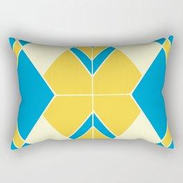 Geometric mosaic tiles pattern Rectangular Pillow