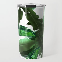 tropical banana leaves pattern 2 Travel Mug