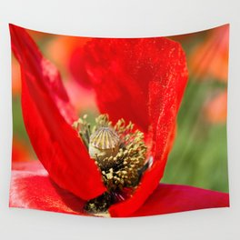 Anatomy of a Poppy: Bed of Petals Wall Tapestry