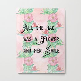 Surfer girl quotes Metal Print