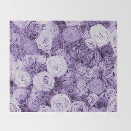 bouquet ver.purple Throw Blanket