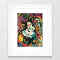 alice wonderland Framed Art Prints featuring Alice in Wonderland by Karl James Mountford
